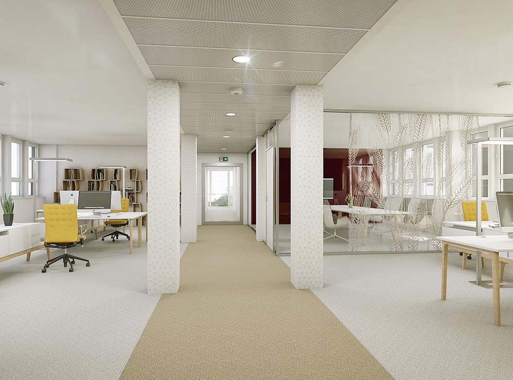 Kontor 2 Beispielmöblierung - Open Office